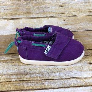 Toms Canvas Purple Toddler Shoes